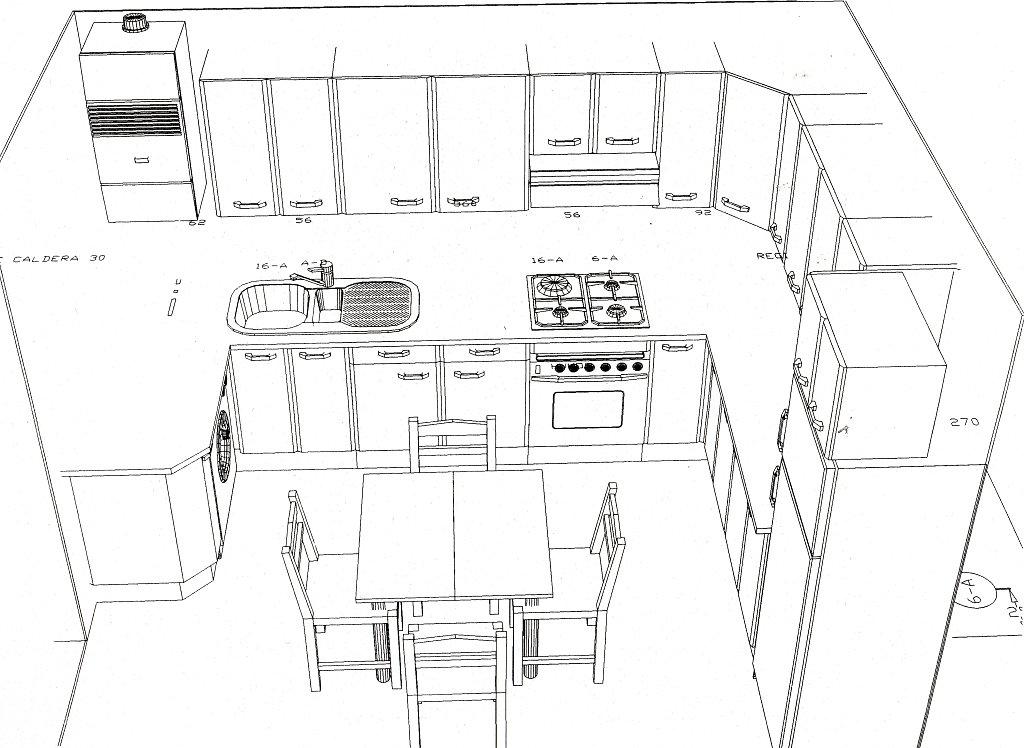 Nosotros for Dimensiones cocina integral